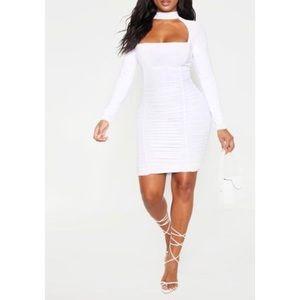 PrettyLittleThing Long Sleeve Bodycon Dress